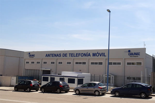 Exterior of the factory of mobile phone antennas