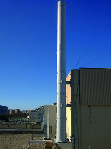 BTS antenna wall pillar anchorage
